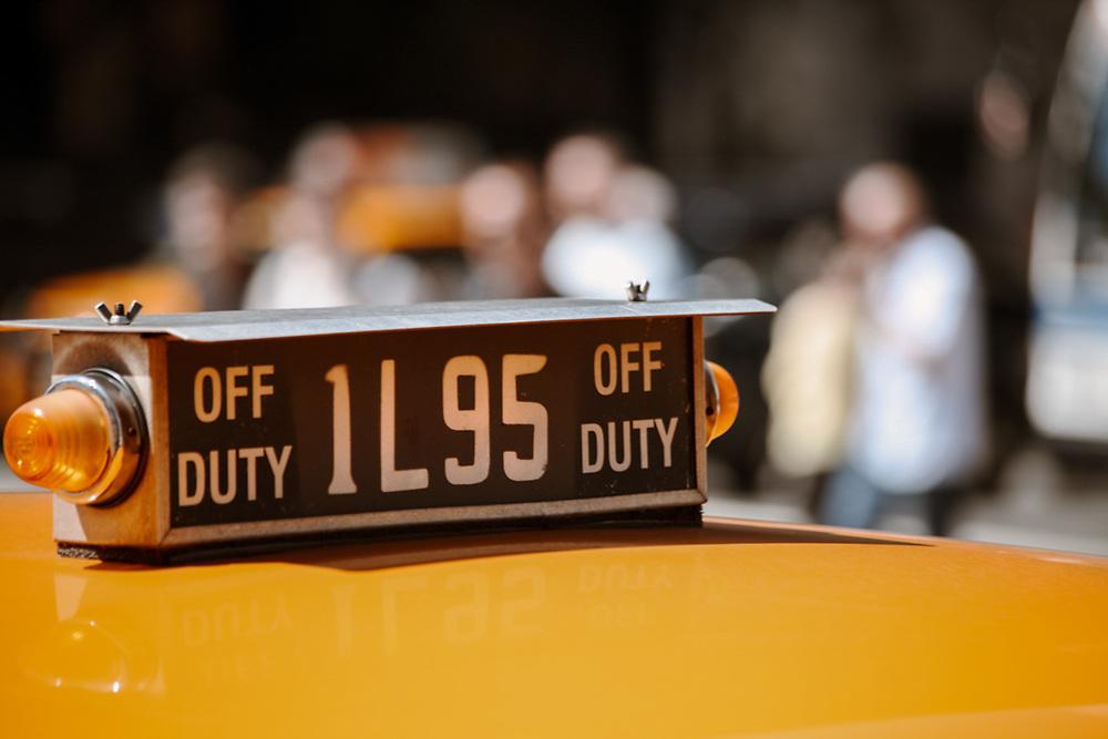 Off duty taxi cab. NYC 2011