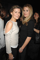 Left to right, ALEX GORE BROWNE and LADY KINVARA BALFOUR at a party to celebrate Imogen Lloyd Webber's 30th birthday and the launch of her Single Girl's Guide held at Vilstead, 9 Swallow Street, London on 27th March 2007.<br />