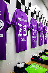 Shirts hang in the Bristol City dressing room - Rogan/JMP - 31/10/2017 - Craven Cottage - London, England - Fulham FC v Bristol City - Sky Bet Championship.