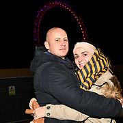 London, England, UK. 31 Dec 2019. Thousands attends the 2019 London's New Year's Eve fireworks at the Embankment.