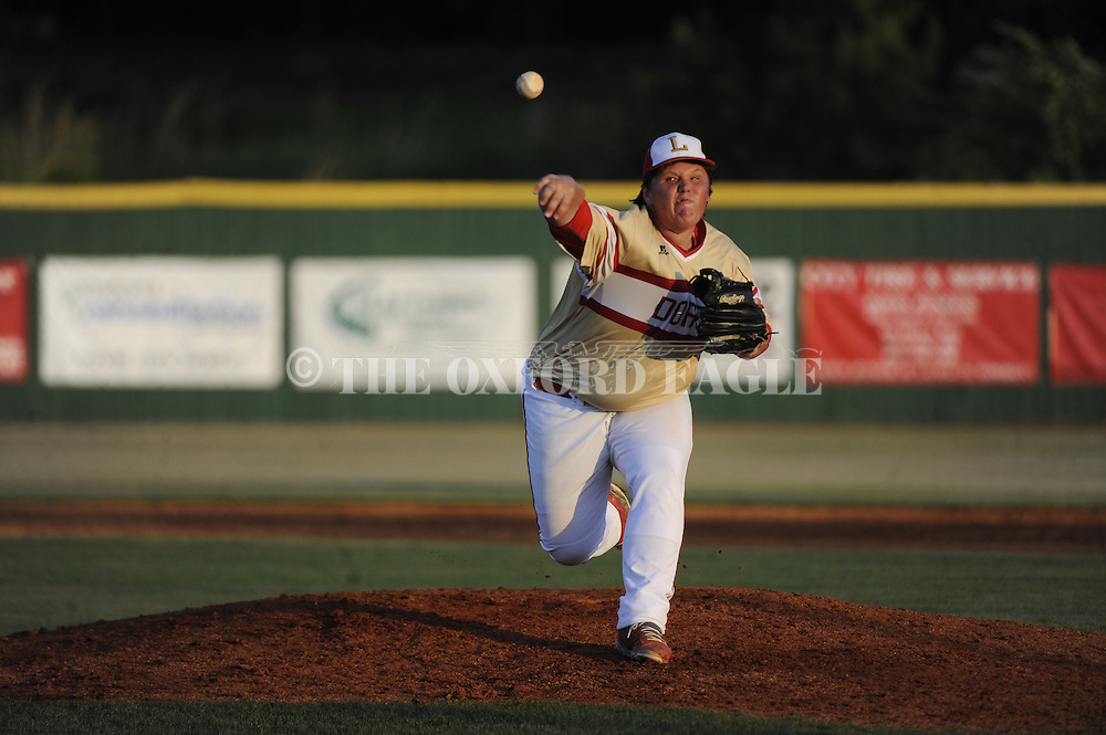 Lafayette High's Austin Arrington vs. Cleveland in baseball action in Oxford, Miss. on Thursday, May 7, 2015. Lafayette won 11-10 in eight innings.