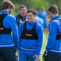 St Johnstone Training…29.07.16<br />Danny Swanson, Murray Davidson and Tam Scobbie having fun during training this morning at McDiarmid Park<br />Picture by Graeme Hart.<br />Copyright Perthshire Picture Agency<br />Tel: 01738 623350  Mobile: 07990 594431