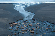 Outgoing tide on the beach at York Maine.