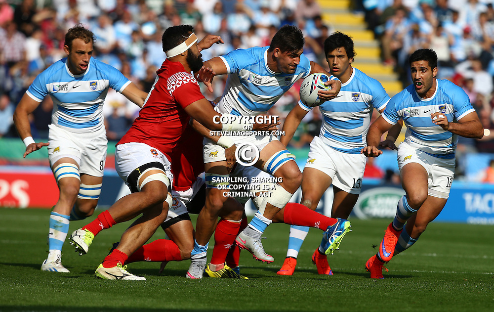 LEICESTER, ENGLAND - OCTOBER 04: Pablo Matera of Argentina on attack during the Rugby World Cup 2015 Pool C match between Argentina and Tonga at Leicester City Stadium on October 04, 2015 in Leicester, England. (Photo by Steve Haag/Gallo Images)