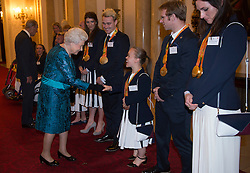 October 18, 2016 - London, United Kingdom - UK OUT Image licensed to i-Images Picture Agency. 18/10/2016. London, United Kingdom. The Queen at a reception for Team GB and ParalympicsGB medallists from the 2016 Olympic and Paralympic Games at Buckingham Palace in London. Picture by ROTA / i-Images  UK OUT (Credit Image: © Rota/i-Images via ZUMA Wire)