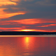 """""""Shimmer""""<br /> <br /> Beautiful hues and shimmering glows in a lovely sunrise image over Lake Huron in Michigan's Upper Peninsula!<br /> <br /> Sunrise Images by Rachel Cohen"""