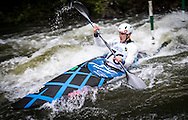 Martin Dougdud in action in the mens K1 final, NZ Open kayaking, Managhao, New Zealand. Sunday, January 22, 2017. Copyright photo: John Cowpland / www.photosport.nz