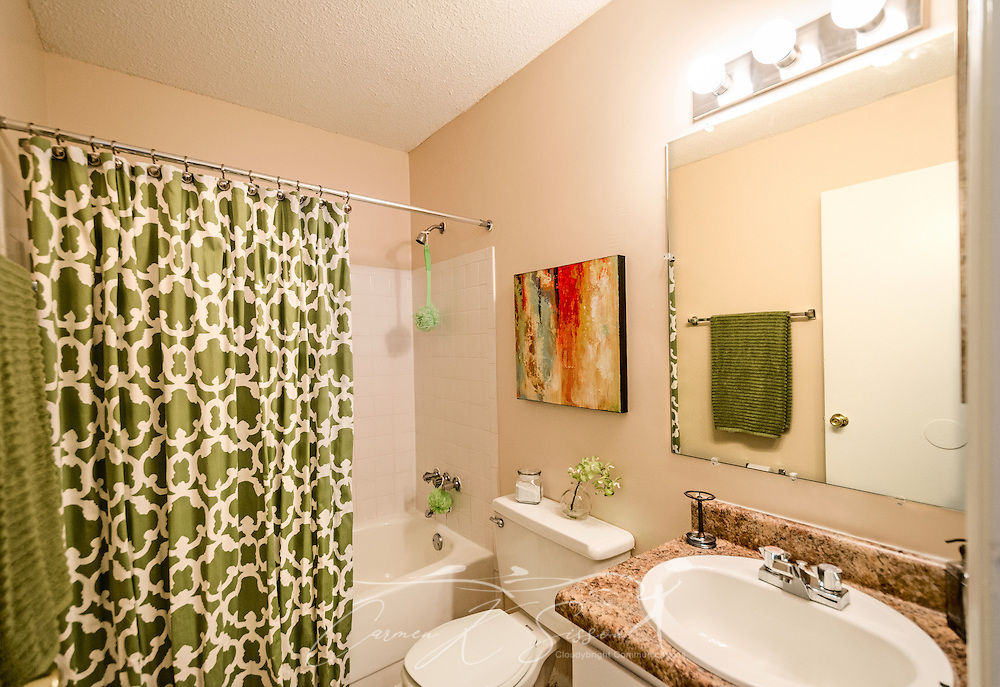 A bathroom at Autumn Woods Apartments, located on Foreman Road in Mobile, Alabama. The apartment complex is owned and operated by Sealy Management Co. (Photo by Carmen K. Sisson)