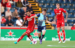 Marlon Pack of Bristol City battles with Dayle Southwell of Wycombe Wanderers - Mandatory by-line: Robbie Stephenson/JMP - 09/08/2016 - FOOTBALL - Adams Park - High Wycombe, England - Wycombe Wanderers v Bristol City - EFL League Cup