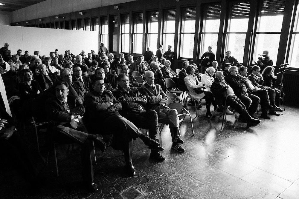 ROME, ITALY - 16 November 2013: Consiglio nazionale di Forza Italia al Palazzo dei Congressi a Rome,, on November 13th, 2013.