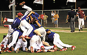 David W. Smith/ Daily News<br />  Christian County celebrate after their game Thursday in Henderson against Barren County. Christian County won the game 6-5 and will advance to the State Finals in Lexington next week.