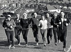Carlton Forum joggers, Nottingham UK Dec 1980