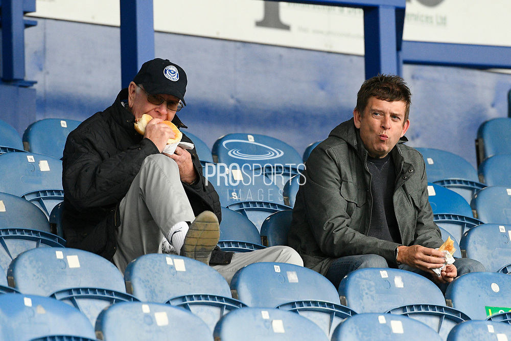 Portsmouth fans having their lunch ahead of the EFL Sky Bet League 1 match between Portsmouth and Gillingham at Fratton Park, Portsmouth, England on 12 October 2019.