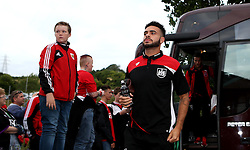 Derrick Williams of Bristol City arrives at Wycombe Wanderers for the EFL Cup match - Mandatory by-line: Robbie Stephenson/JMP - 09/08/2016 - FOOTBALL - Adams Park - High Wycombe, England - Wycombe Wanderers v Bristol City - EFL League Cup
