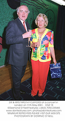 DR & MRS TIMOTHY CLIFFORD at a concert in London on 11th May 2001.<br />