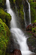 Waterfall detail, Nehalem River, Oregon.