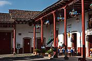 Plaza De Matamoros in Santa Clara del Cobre, Michoacan, Mexico.