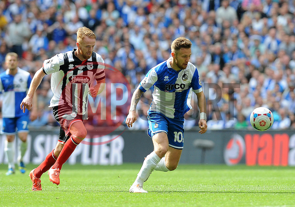 Bristol Rovers' Matty Taylor- Photo mandatory by-line: Neil Brookman/JMP - Mobile: 07966 386802 - 17/05/2015 - SPORT - football - London - Wembley Stadium - Bristol Rovers v Grimsby Town - Vanarama Conference Football