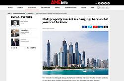 AMEinfo website; Skyline of Dubai