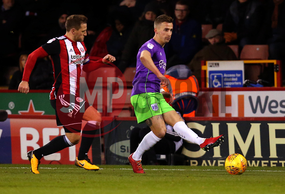 Joe Bryan of Bristol City passes the ball - Mandatory by-line: Robbie Stephenson/JMP - 08/12/2017 - FOOTBALL - Bramall Lane - Sheffield, England - Sheffield United v Bristol City - Sky Bet Championship