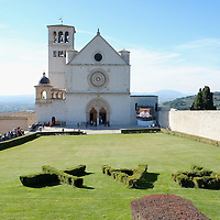 ASSISI, ITALY - OCTOBER 03:  Saint Francis Basilica is seen ahead of the visit of Pope Francis on October 3, 2013 in Assisi, Italy. Pope Francis is due to venerate the tomb of San Francesco of Assisi tomorrow during his one-day visit to the city.  (Photo by Marco Secchi/Getty Images)