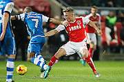 Walsall'sAdam Chambers (7) takes on Fleetwood's Kyle Dempsey (34) during the EFL Sky Bet League 1 match between Fleetwood Town and Walsall at the Highbury Stadium, Fleetwood, England on 10 December 2016. Photo by Craig Galloway.