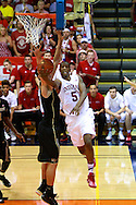 November 23 2015: Indiana Hoosiers forward Troy Williams drives the baseline during the Maui Invitational at  Lahaina Civic Center on Maui, HI. (Photo by Aric Becker)