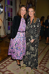 Left to right, NATALIE MASSENET and ANYA HINDMARCH at a party to kick off London Fashion Week hosted by US Ambassador Matthew Barzun and Mrs Brooke Brown Barzun with Alexandra Shulman in association with J.Crew hrld at Winfield House, Regent's Park, London on 18th September 2015.