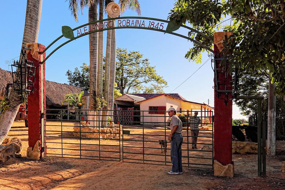 House gate at Vegas Robaina, San Luis, Pinar del Rio, Cuba.