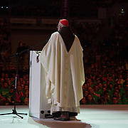 KRAKOW,POLAND 27 JULY:  Images from the events during the daytime at Tauron Arena, the English stadium. Mass celebrated by Cardinal O'Malley of the Archdiocese of Boston.