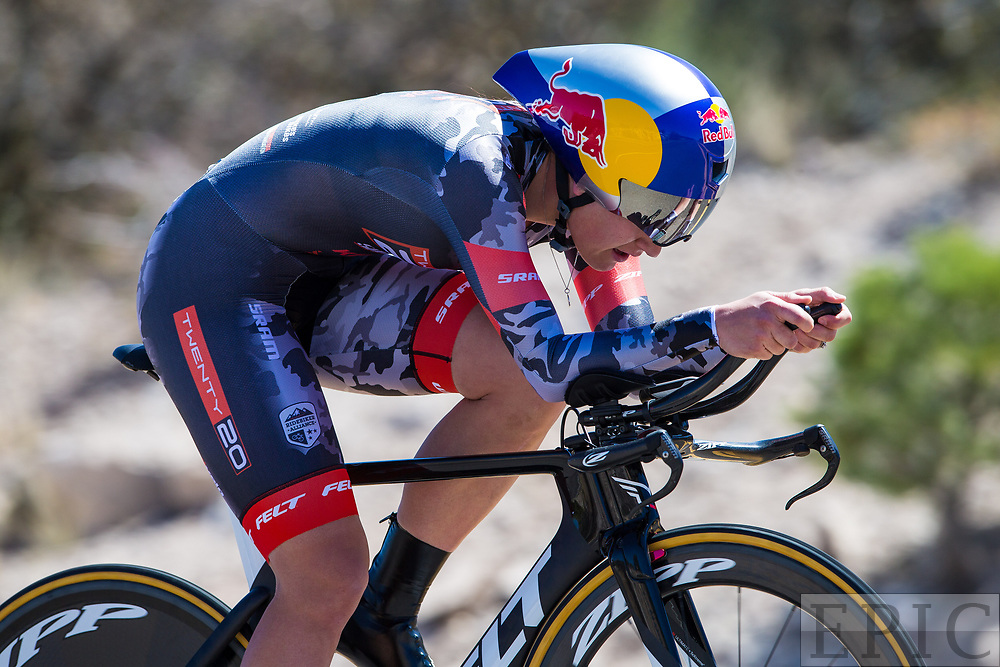 SILVERY CITY, NM - APRIL 20: Chloe Dygert (Team Twenty 20/Sho-Air) on the way to winning stage 3 of the Tour of The Gila on April 20, 2018 in Silver City, New Mexico. (Photo by Jonathan Devich/Epicimages.us)