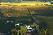 Aerial view over Saffron Fields Vineyard, Yamhill - Carlton, Willamette Valley, Oregon