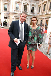 The HON.NAT ROTHSCHILD and PETRINA KHASHOGGI at the Royal Academy of Art Summer Exhibition Preview Party on 4th June 2008.<br />