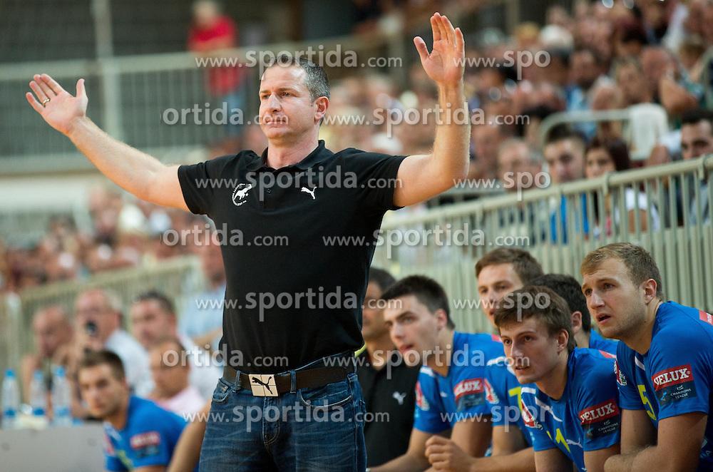 Vladan Matic of Celje during handball match between RK Cimos Koper and RK Celje Pivovarna Lasko of 2nd Round of Slovenian First League 2012/13 on September 16, 2012 in Arena Bonifika, Koper, Slovenia. (Photo By Vid Ponikvar / Sportida)