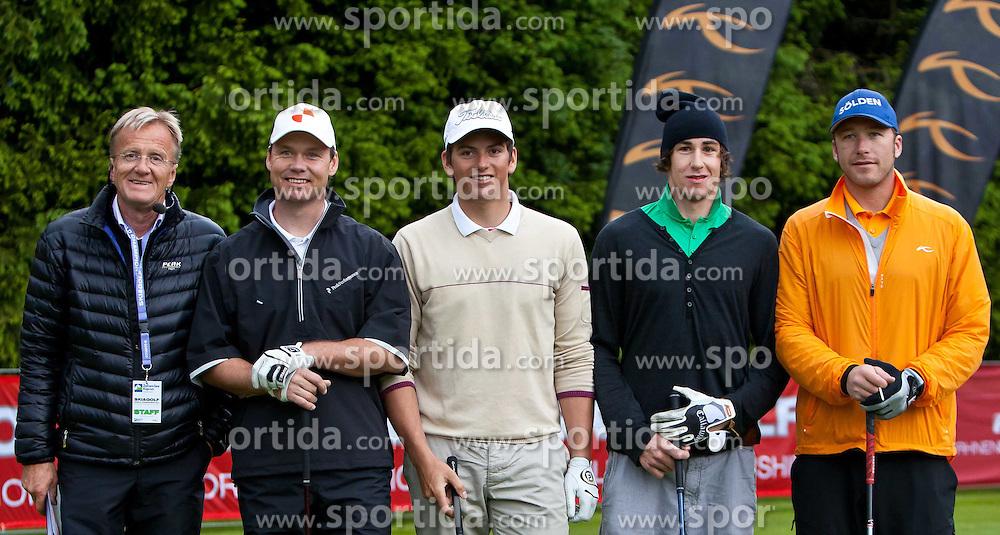 13.05.2011, Golfplatz, Zell am See - Kaprun, AUT, Golf und Ski WM 2011, im Bild Veranstalter Charly Schichl, Patrik Jaerbyn (SWE), Frederic Berthold (AUT), Doriano Bergamin (SUI), Bode Miller (USA) // Charly Schichl - Oragnisation , Patrik Jaerbyn (SWE), Frederic Berthold (AUT), Doriano Bergamin (SUI), Bode Miller (USA) during the Golf and Ski World Championships 2011, Golf Course Zell am See - Kaprun, 2011-05-13, EXPA Pictures © 2011, PhotoCredit: EXPA/ J. Feichter