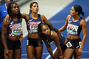 Carole Zahi, Jennifer Galais, Stella Akakpo and Orlann Ombissa-Dzangue compete in 4x100m during the European Championships 2018, at Olympic Stadium in Berlin, Germany, Day 6, on August 12, 2018 - Photo Philippe Millereau / KMSP / ProSportsImages / DPPI