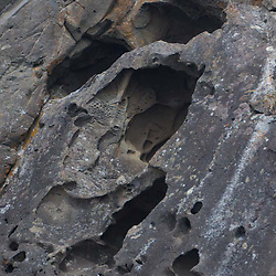 Cliff Detail, Gossip Island, San Juan Islands, Washington, US