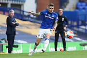 Everton defender Lucas Digne (12) during the Premier League match between Everton and Bournemouth at Goodison Park, Liverpool, England on 26 July 2020.