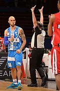 DESCRIZIONE : Milano Lega A 2014-15 EA7 Emporio Armani Milano vs Banco di Sardegna Sassari playoff Semifinale gara 1 <br /> GIOCATORE : Logan David<br /> CATEGORIA : Esultanza Mani  Arbitro Referee<br /> SQUADRA : Banco di Sardegna Sassari<br /> EVENTO : PlayOff Semifinale gara 1<br /> GARA : EA7 Emporio Armani Milano vs Banco di Sardegna SassariPlayOff Semifinale Gara 1<br /> DATA : 29/05/2015 <br /> SPORT : Pallacanestro <br /> AUTORE : Agenzia Ciamillo-Castoria/Richard Morgano<br /> Galleria : Lega Basket A 2014-2015 Fotonotizia : Milano Lega A 2014-15 EA7 Emporio Armani Milano vs Banco di Sardegna Sassari playoff Semifinale  gara 1 Predefinita :