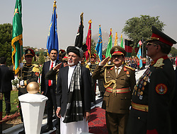 Aug. 19, 2017: Kabul, Afghanistan: Afghan President ASHRAF GHANI (C) attends the celebration of the 98th anniversary of Afghanistan's independence from the British empire occupation. (Credit Image: © Rahmat Alizadah/Xinhua via ZUMA Wire)