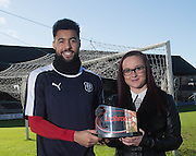 Kane Hemming si presented with the Ladbrokes Premiership player of the month award for January 2016 by Ailsa Kane from the SPFL - Kane Hemmings is the SPFL player of the month for January 2016<br /> <br />  - &copy; David Young - www.davidyoungphoto.co.uk - email: davidyoungphoto@gmail.com