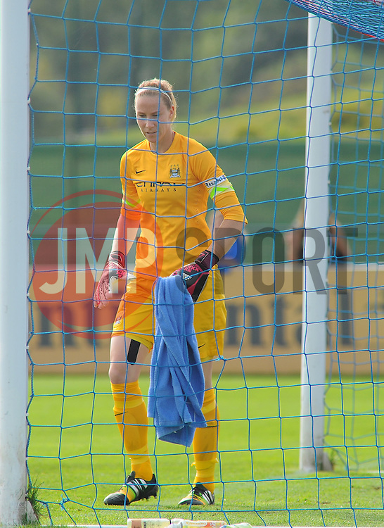 Manchester City Womens' Karen Bardsley in action. - Photo mandatory by-line: Nizaam Jones- Mobile: 07583 387221 - 28/09/2014 - SPORT - Women's Football - Bristol - SGS Wise Campus - BAWFC v Man City Ladies - sport
