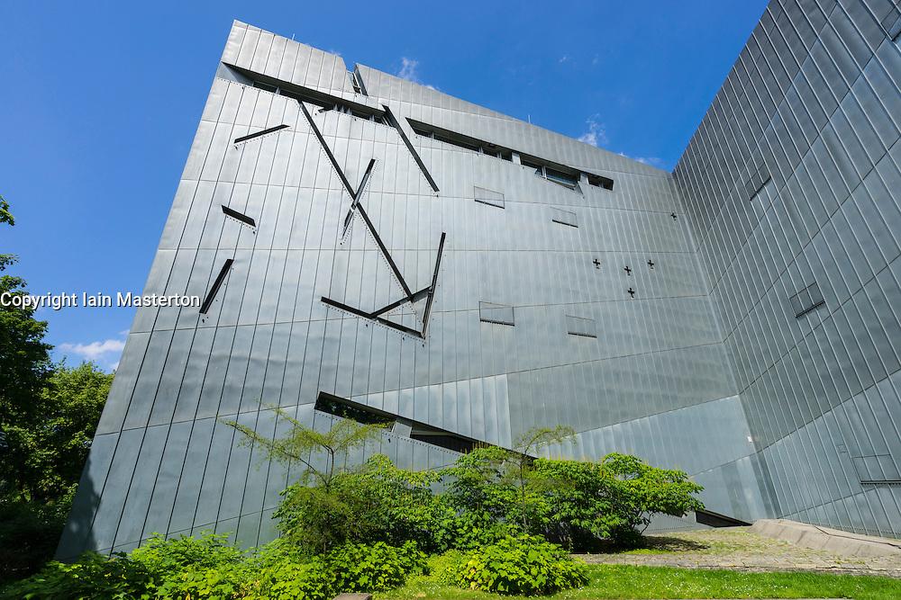 Modern exterior of Jewish Museum in Kreuzberg Berlin Germany