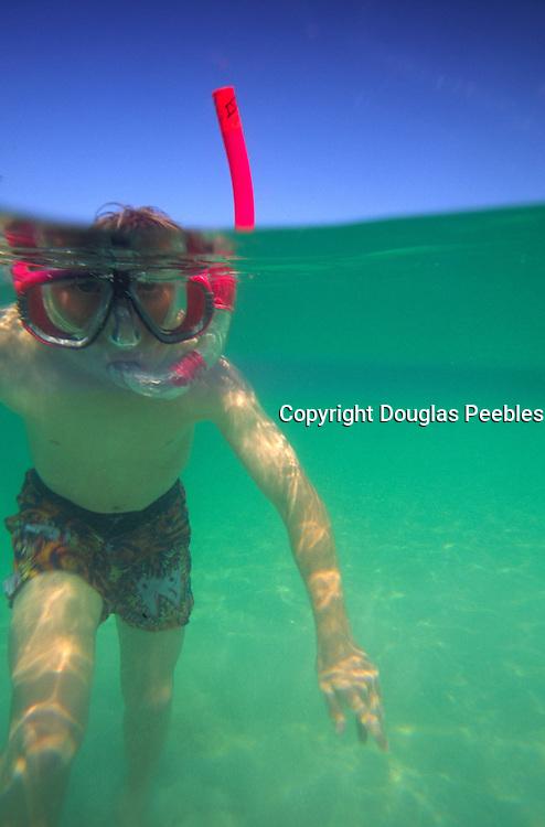 Boy snorkeling<br />