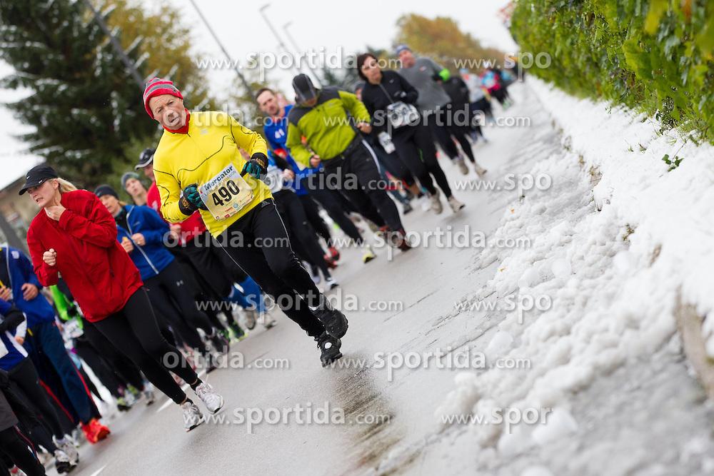 Athletes running during 17th Ljubljana Marathon 2012 on October 28, 2012 in Ljubljana, Slovenia. (Photo By Vid Ponikvar / Sportida)