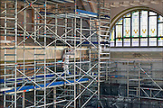 Nederland, Nijmegen, 18-8-2015Grote verbouwing, renovatie en herinrichting van het 100-jarige concertgebouw de Vereeniging.Architect was Oscar Leeuw en er zijn veel elementen uit de art deco en art nouveau in verwerkt.Dit podium wordt door musici geroemd vanwege zijn uitstekende akoestiek, beter nog dan van het concertgebouw in Amsterdam.FOTO: FLIP FRANSSEN/ HOLLANDSE HOOGTE