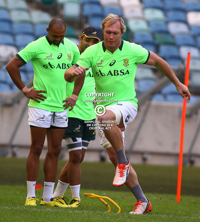 DURBAN, SOUTH AFRICA - AUGUST 21: Schalk Burger during the South African national rugby team training session at Moses Mabhida Stadium on August 21, 2015 in Durban, South Africa. (Photo by Steve Haag/Gallo Images)