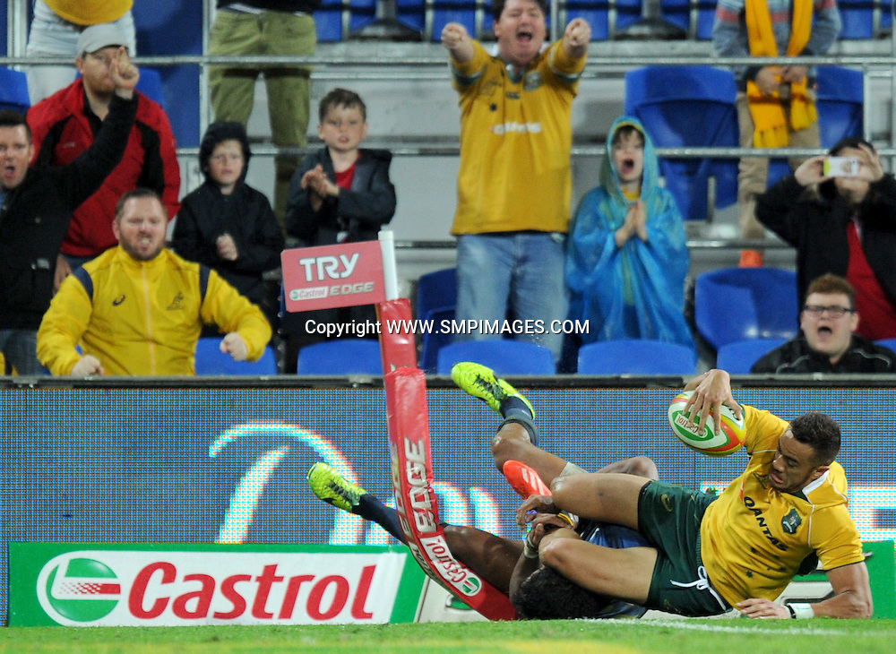 PETER BETHAM - AUSTRALIA -  PHOTO: SCOTT DAVIS - SMPIMAGES.COM - AUSTRALIA V ARGENTINA, 13th SEPTEMBER 2014 - Images from the Australian Wallabies V Argentina Pumas Rugby Championships test match, being played at  CBUS Super Stadium, Robina, Gold Coast. This image is for Editorial Use Only. Any further use or individual sale of the image must be cleared by application to the Manager Sports Media Publishing (SMP Images). PHOTO : Scott Davis SMP IMAGES