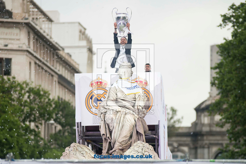 Real Madrid players celebrate winning the UEFA Champions League with an open top bus tour at Cibeles Square, Madrid<br /> Picture by EXPA Pictures/Focus Images Ltd 07814482222<br /> 29/05/2016<br /> ***UK &amp; IRELAND ONLY***<br /> EXPA-ESP-160529-0124.jpg
