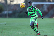 Forest Green Rovers Toni Gomez(25) runs forward during the The Central League match between Cheltenham Town Reserves and Forest Green Rovers Reserves at The Energy Check Training Ground, Cheltenham, United Kingdom on 28 November 2017. Photo by Shane Healey.